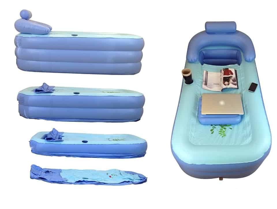 La baignoire gonflable rentre dans votre coffre de voiture for Peut on repeindre une baignoire