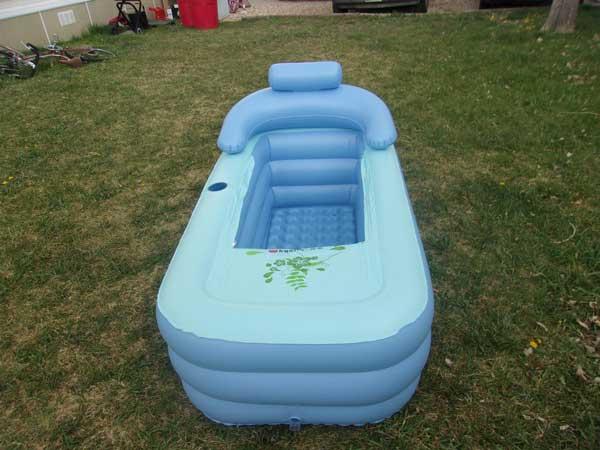 baignoire gonflable pour adulte en plastique portative