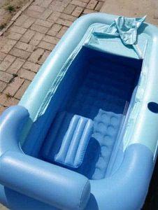 baignoire gonflable pour adulte en plastique portable