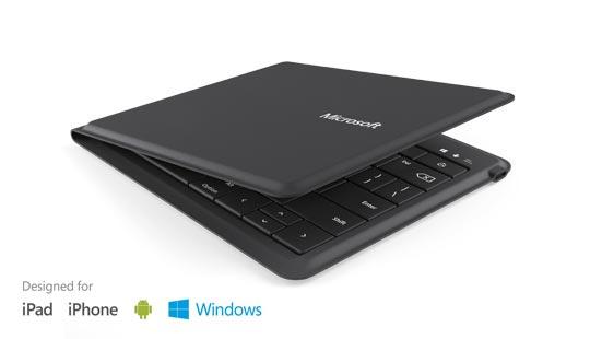 clavier bluetooth pliant Microsoft universal foldable keyboard