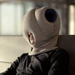 oreiller coussin autruche ostrich pillow pour dormir partout