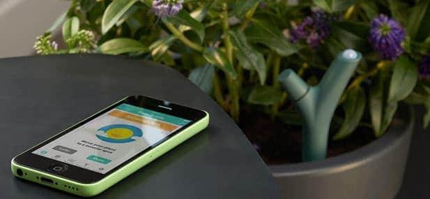 capteur d'eau et des autres besoins des plantes Flower Power Parrot
