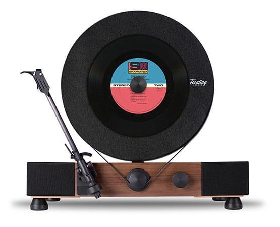 Le lecteur de disque vinyle gramovox joue la verticale - Lecteur disque vinyl ...
