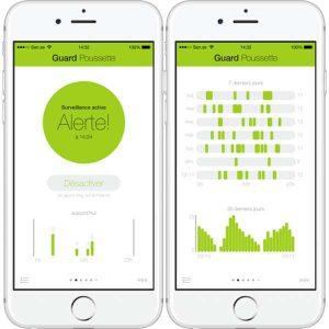 appli SensePeanut sur smartphone