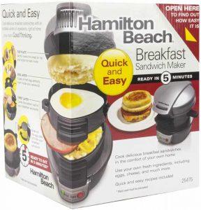 appareil egg muffin maison Hamilton Beach Breakfast Sandwich Maker