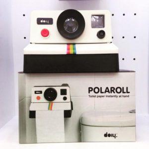 dérouleur papier WC original et design Polaroid pour toilettes Polaroll