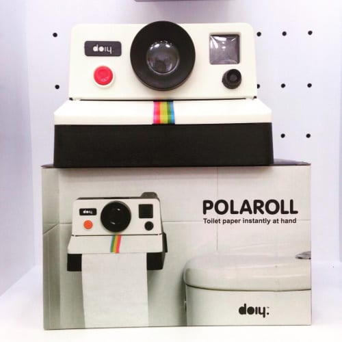 d rouleur papier wc polaroid polaroll souriez le petit oiseau va sortir. Black Bedroom Furniture Sets. Home Design Ideas