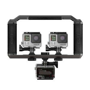3 GoPro sur la platine Triad Grip