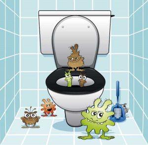 microbes lunettes toilettes