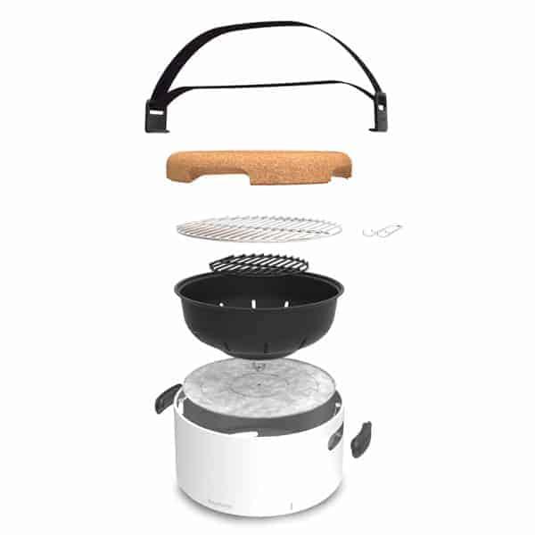 Le Barbecue De Table Au Charbon Berghoff Est Design Et Nomade