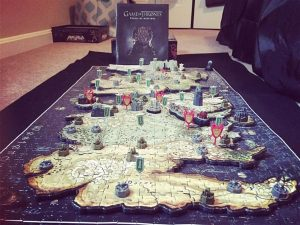 Le puzzle game of thrones westeros 3D terminé et sa boîte