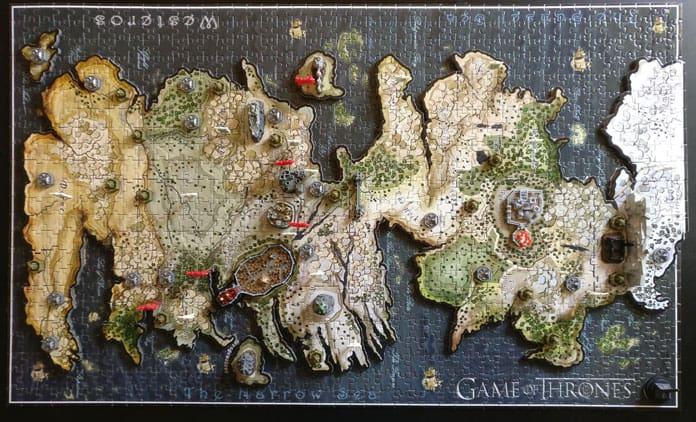 puzzle westeros 4D terminé vue de dessus
