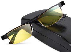 design des lunettes anti lumière bleue Klim Optics